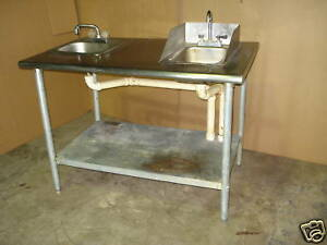 Eagle Stainless Steel 2 Hand Wash Sinks With Counter