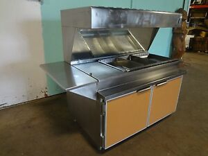 H d Commercial S s 66 w Lighted Heated Fried Food Dump holding Station