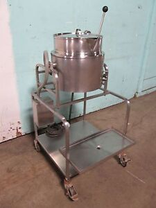 groen H d Commercial 3ph Electric 20qt Steam Jacketted Tilting Kettle