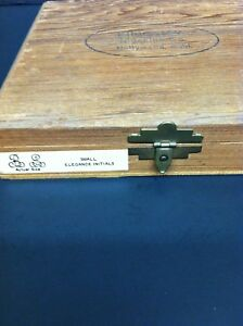 Kingsley Stamp Machine Small Elegant Initials price Reduced