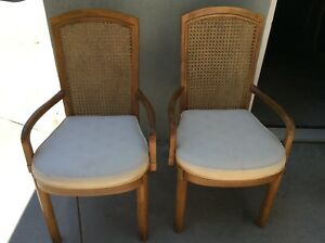 Caned Back Chair Marked Drexel Heritage