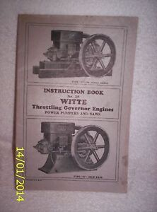 Witte Throttling Gov Eng s Inst Book 28 blue Print 2 Price Lists Circa 1900