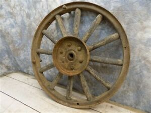 Ford Model T A Wheel Wood Spoke Rim 23 Inch Diameter 4 3 8 Hub Vintage Auto H