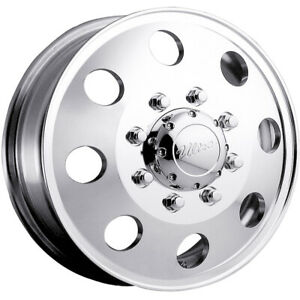 17x6 5 Polished Ultra 002 Dually Dually Front Wheels 8x6 5 134 Chevrolet