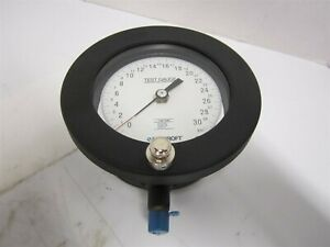 Ashcroft 45 1082as 02l Pressure Gauge 30 Psi With Zero Adjust 4 1 2 1 4 npt New