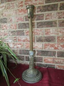 Vintage Victorian Candle Stick Candlestick Table Lamp Brass 22 1 2