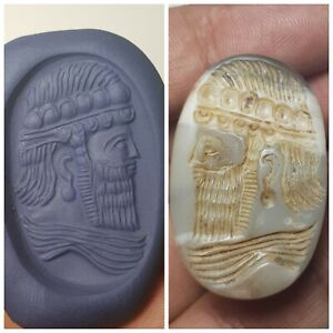 Near Eastern Really Rare Very Old Sassan King Agate Intaglio Stamp Seal