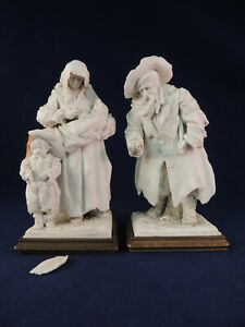 2 Antique 19th Century Sevres French Porcelain Figurines Parian Biscuit Signed