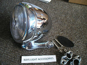 New Single Chrome Metal Vintage Style Dummy Spot Light