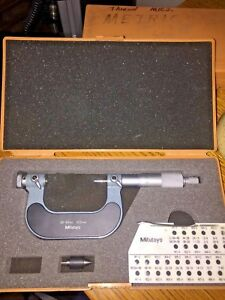 Mitutoyo Screw Thread Micrometer No 126 126 25 50mm 0 01mm