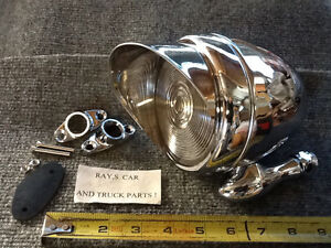New Single Chrome Metal Vintage Style Dummy Spot Light With Visor