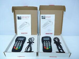 Lot Of 2 Magtek 30050201 Ipad Magnetic Swipe Credit Card Reader Entry Device