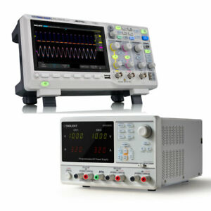 Siglent 200 Mhz Oscilloscope And Adjustable Bench Power Supply Bundle