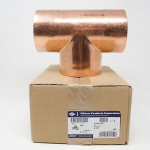 W 40200 Elkhart Copper Tee Solder Joint 4 1 8 Od Cxcxc Hvac 4 Nominal New
