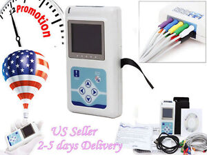 Tlc5000 Ecg Sytems Holter Ecg Ekg Recorder Software Analyzer 12 Channels 24 Hrs