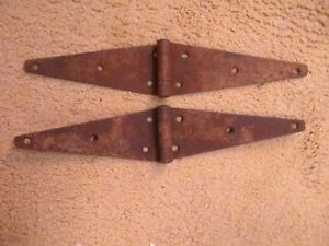 2 Vintage Barn Door Strap Hinges 15 5 Rusty Antique Salvage Hardware Ranch Farm