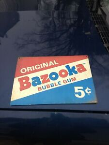New Original Bazooka Bubble Gum Vintage Look Metal Sign Auto Shop Gas Station