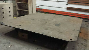 Rotating Turntable 10 Ft Steel Top Electric Powered Heavy Duty Rotary Table