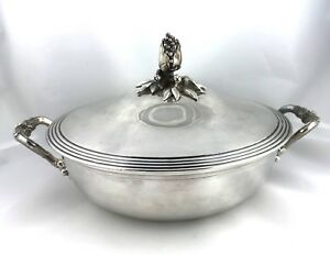 Antique C 1870s Christofle French Silverplate Vegetable Serving Tureen Dish