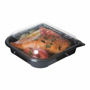 Eco Products Ep ptor7 Black 18 Oz Take out Container W Lid 150 Cs