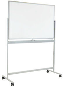 Mount it Rolling White Board With Casters And Stand 48x32 Inches mi 10702