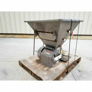 Used Key Technology Stainless Steel Rotary Feeder W Hopper
