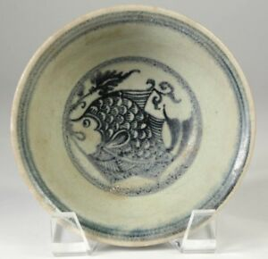China Chinese Celadon Pottery Plate W Fish Decoration Ming Dynasty Ca 16 17th