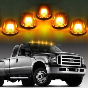 5x264146cl Clear Amber Led Cab Roof Running Marker Lights For Truck Suv Off Road