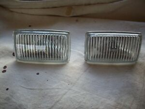 Nos 1987 1988 Ford Thunderbird Turbo Coupe 2 3 Oem Hella Fog Light Lens Pair