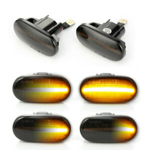 Dynamic Smoke For 96 00 Honda Civic S2000 Acura Del Sol Led Side Marker Lights