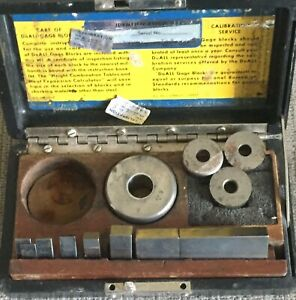 Doall Precision Inspection Gage Blocks Set In Case Machine Shop Tool