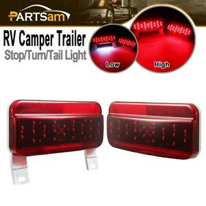 Pair Of Led Combination Stop Turn Tail License Lights For Rv Camper Trailer Boat