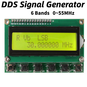 Ad9850 New Dds Signal Generator Wave Frequency Meter 0 55mhz Isb Usb Cw Modes