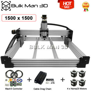 Workbee Cnc Router Kit 1500x1500mm 4 Axis Mach3 Controller Cable Chain Set