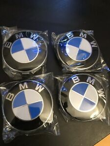 Bmw 4pcs 68mm Blue White Wheel Center Emblem Cap Free Shipping 36136783536 4