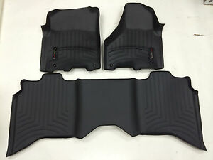 Weathertech Floorliner For Dodge Ram 2500 3500 Crew 2012 2017 Black