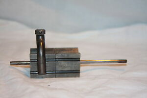 Antique Ls Starrett Co Two No 271 V Blocks W Rod And Clamp