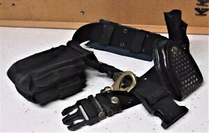 Police Security Combat Gear Tactical Black Utility Web Nylon Duty Belt 2 35 46
