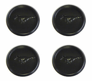 4 2005 Oem Ford Mustang Pony Matte Black Center Caps Hubcaps