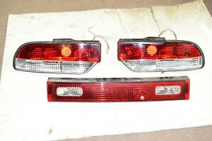 Jdm Nissan 180sx Red Clear Tail Lights 3 Piece S13 S14 240sx 200sx