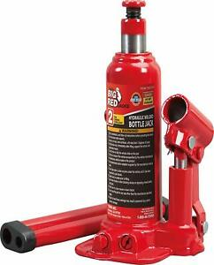 Hydraulic Red Bottle Jack Car Repair 2 4 6 8 10 Tons Lift Tool Wide Rugged Base