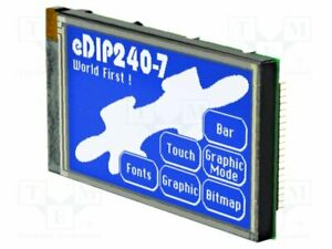 Display Lcd Graphical Stn Negative 240x128 Blue Led 113x70mm Smart Screen