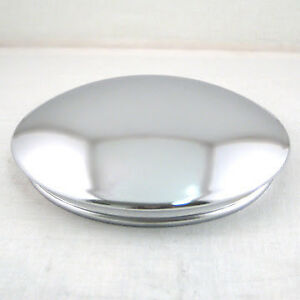 Chrome Reverse Baby Moon Hubcap 7 1 2 Center Cap For Smoothie Wheels Pair