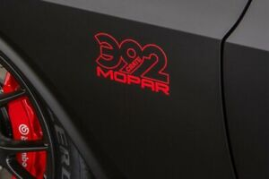 392 Mopar Crate Decals Body Fits Challenger Charger Ram 2pc Set New