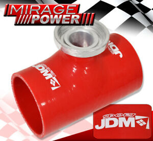 Jdm Sport Sqv Ssqv Turbo Bov 3 Silicone Adapter Pipe Tube Red For Supra Celica