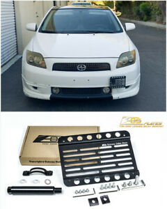 Eos For 05 10 Scion Tc Front Bumper Tow Hook License Plate Mount Bracket