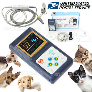 Us Seller Veterinary Pulse Oximeter Spo2 Pr Monitor Vet Tongue Probe Dog cat pet