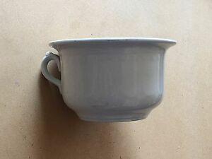 Vintage White Porcelain Chamber Pot With Handle