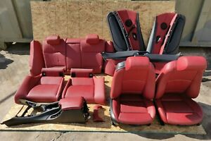 Front And Rear Seats W All 4 Sides Door Panels Oem Bmw E92 Sport Coral Red