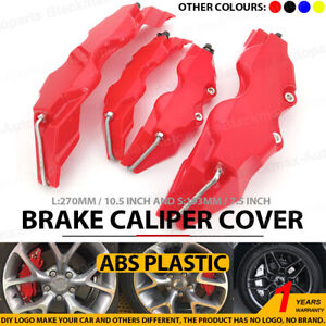 4pcs Red 3d Brake Caliper Covers Style Disc Universal Car Front Rear L S Cy2